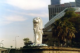 Singapore Merlion Picture Symbol on Round The World 2000   Singapore